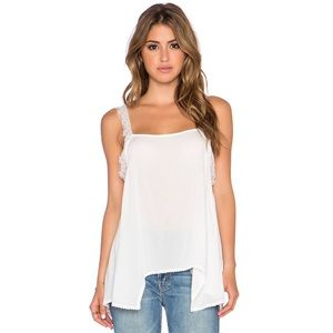 Free People Dot and Lace Delicate Sides Cami